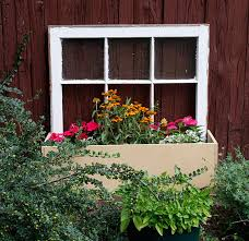 how to re purpose an old window into a beautiful planter