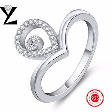 Best Wedding Ring Stores by Aliexpress Com Buy Water Drop Design Love Engagement Wedding