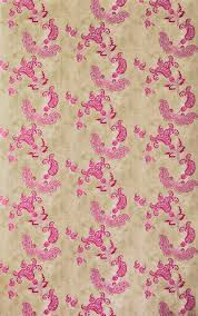 paisley wallpaper pink on tea stain by barneby gates