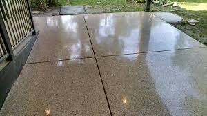 Pea Gravel And Epoxy Patio by Concrete Polishing U201cbefore U0026 After U201d Eco Advantage Painting