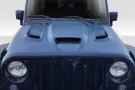 jeep hellcat 07 17 jeep wrangler hellcat look duraflex body kit hood 113214