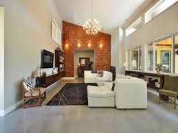 high ceilings living room ideas exposed brick decor house plans with high ceilings in living room