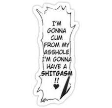 Hentai Meme - hentai meme shitgasm stickers by kuroo qt redbubble