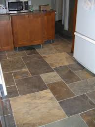 Laminate Floor Tile Effect Kitchen Floor Gray Tiles Cover The Floors Of This Beautiful Black
