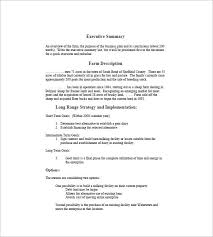 agriculture business plan template 100 images 9 best sle