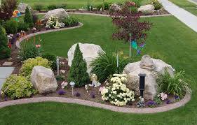 Colored Rocks For Garden Front Yard Landscaping With River Rock Best Ideas About River