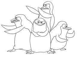 Penguins Madagascar Penguin Coloring Pages Penguin