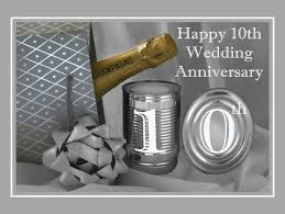 10th wedding anniversary 10th wedding anniversary greeting card 709122 moggies and more