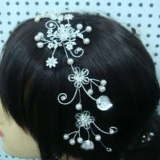 hair brooch design blooming flower silver rhinestone bridal hair comb wedding