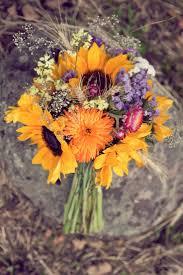 Wedding Flowers Fall Colors - best 25 sunflower bridal bouquets ideas on pinterest sunflower