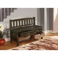 simpli home williamsburg entryway storage bench with drawers