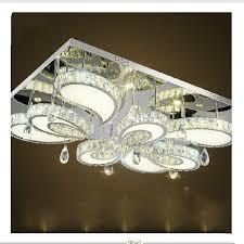Flush Mount Bedroom Ceiling Lights Modern Led Flush Mount Rectangular Crystal Ceiling Lights Fixture