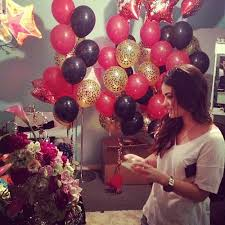 bae flowers and balloon at birthday for a best friend roses wall and pictures
