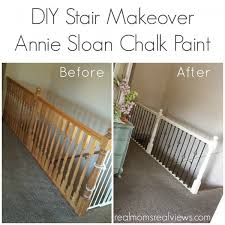 how to make a banister for stairs diy stair makeover with annie sloan chalk paint hollie did an