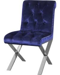 savings on claire dining chairs set of 2 navy velvet