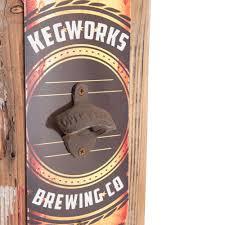 unique wall mounted bottle openers personalized wall mounted barn wood beer bottle opener