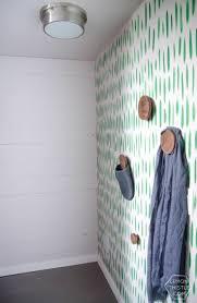 diy graphic brushstrokes hand painted wallpaper lemon thistle