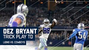 dez bryant throws td to witten trick play alert lions vs