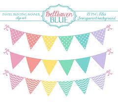 pastel bunting banner clip art