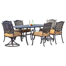 Aluminum Cast Patio Dining Sets - sunjoy patio dining sets patio dining furniture the home depot