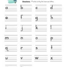 bunch ideas of lowercase letter worksheets with free download