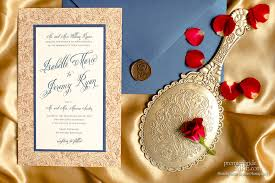 Beauty And The Beast Wedding Invitations Beauty And The Beast Premier Bride Wisconsin