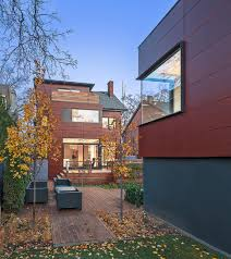 architecture annex house rear dusk by bob gundu modern home