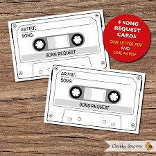 wedding song request cards song request cards large size printable wedding birthday party