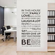 stickers muraux cuisine citation dans cette maison nous faisons maison règles citation stickers