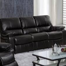 Grey Leather Reclining Sofa by Faux Leather Sofas You U0027ll Love Wayfair