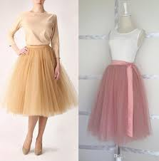 tulle wholesale best quality wholesale brand new 6 layers midi tulle skirt
