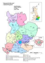 Hertfordshire England Map by United Kingdom Czso
