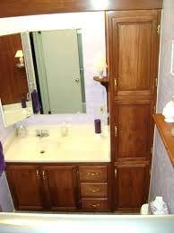 White Linen Cabinets For Bathroom Bathroom Vanity With Linen Cabinet Simpletask Club