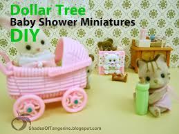 dollar store baby shower shades of tangerine dollar tree baby shower miniatures diy