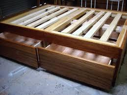 queen size captains bed plans home design ideas