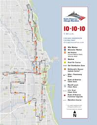 Nyc Marathon Route Map Map Of Chicago Marathon You Can See A Map Of Many Places On The
