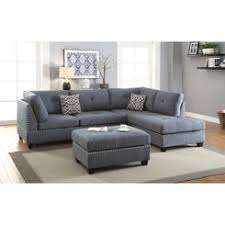 Navy Sectional Sofa 3 Pc Navy Blue Microfiber Sectional Sofa With