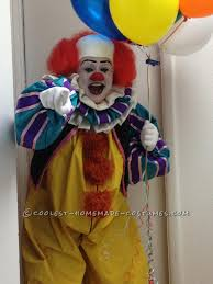 kids halloween clown costumes coolest stephen king u0027s it pennywise the clown costume costumes