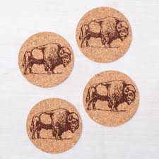 cork coasters bison cork coasters counter couture