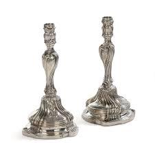 candelieri in argento coppia di candelieri in argento punzone torretta 1770 argenti e