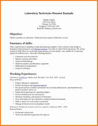 Technician Resume Examples Lab Technician Resume Format