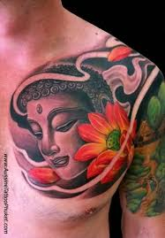 ultimate face of buddha tattoo design for cool men golfian com