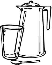 disegni bicchieri disegno di teiera e bicchiere da colorare disegni da colorare e