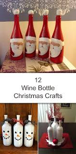 Wine Glass Decorating Ideas Amazing Wine Bottle Christmas Crafts