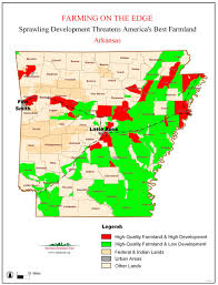 State Of Arkansas Map by Farming On The Edge American Farmland Trust