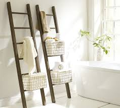 Bathroom Storage Ladder Luxe Bathroom Picks For The Spa Lover Ladder Storage Bathroom