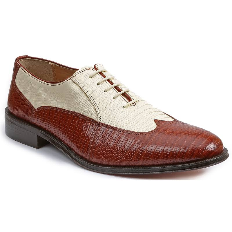 Giorgio Brutini Melby 210074 Brown Leather Dress Lace Up Oxfords Shoes