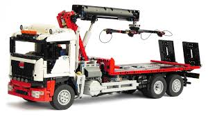 lego technic recovery truck with crane youtube