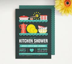 mid century modern kitchen shower invitation couples shower