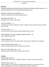 Cover Letter For Chef Here U0027s The Menu For Twisted Soul Cookhouse U0026 Pours Certified Open